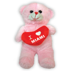 PLUSH TEDDY BEAR W/HEART TOY