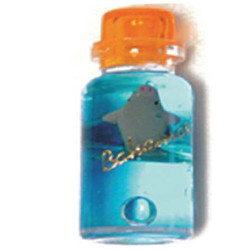 BOTTLE, FLOATING BLUE MAGNET