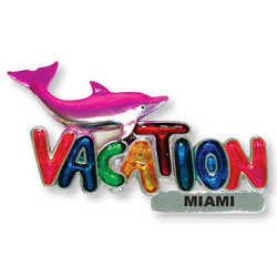 DOLPHINS VACATION MAGNET