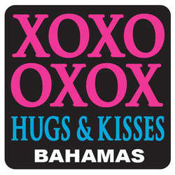XOXO OXOX HUG & KISSES, PVC NEON MAGNETS