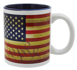 Gift Boxed Souvenir Mugs USA FLAG