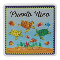 Puerto Rico TURTLES Acrylic Foil Magnets