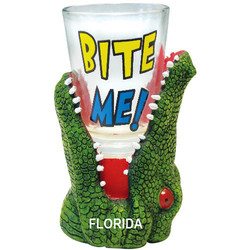 BITE ME. Alligator Shot Glass