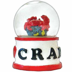 CRAB WATER GLOBE MAGNETS