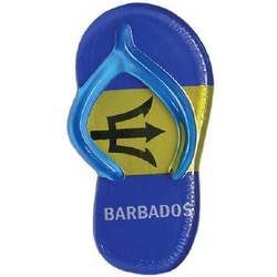 BARBADOS FLAG SANDAL MAGNETS