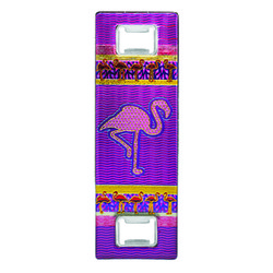 Metallic Double Bottle Opener Flamingo
