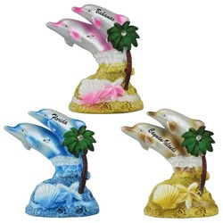 PEARLIZED DOLPHIN FIGURINES