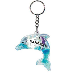 FLOATING KEY CHAIN BLUE DOLPHIN
