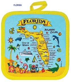 Souvenir Cotton Pot Holders Florida