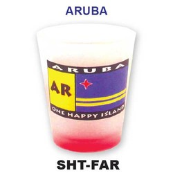 ARUBA FLAG SHOT GLASS