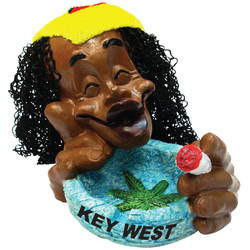 Rasta Coral Blue Ceramic Ashtray