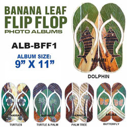 Banana Leaf Flip Flop Photo Album