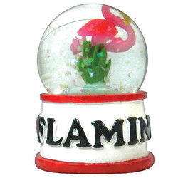 FLAMINGO WATER GLOBE MAGNETS