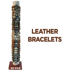 Coconut and Shell Leather Bracelets
