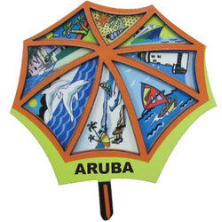 UMBRELLA BEACH  3D CARVED MAGNET