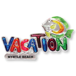 FISH VACATION MAGNET