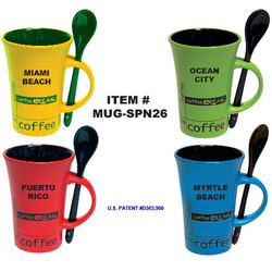 Neon Coffee Break Spoon Mugs