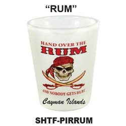 RUM, PIRATE FROSTED SHOT GLASS