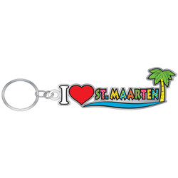 I Love St. Maarten ENAMEL Key Chain