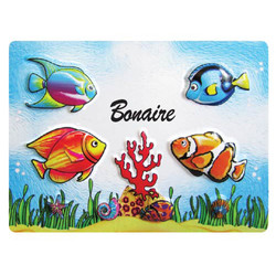 FISH EMBOSSED RUBBER MAGNET