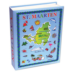 St. Maarten Map Large Photo Album