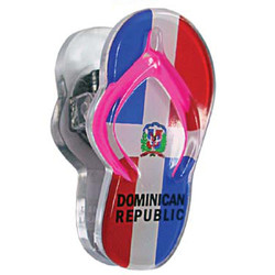 DOMINICAN REPUBLIC, Sandal Acrylic Memo Clip Magnets