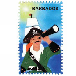 PIRATE CERAMIC STAMP MAGNET