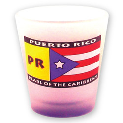 Puerto Rico Flag Frosted Shot Glass