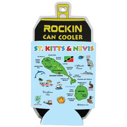 ST. KITTS & NEVIS MAP Can Cooler