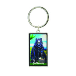 Metallic Double Sided Bear Keychain