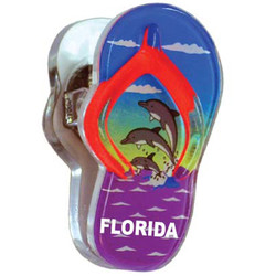 DOLPHIN, Sandal Acrylic Memo Clip Magnets