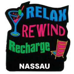 RELAX REWIND RECHARGE PVC MAGNET