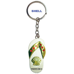 SHELL PEWTER SANDAL KEYCHAIN