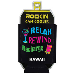 RELAX, REWIND. RECHARGE Can Cooler