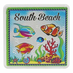 South Beach FISH Acrylic Foil Magnets