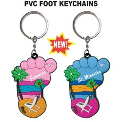 FOOT/BEACH PVC KEYCHAIN