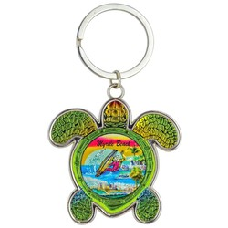 Turtle Foil Key Chain, Surfing