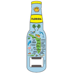 Florida Map BOTTLE OPENER MAGNET