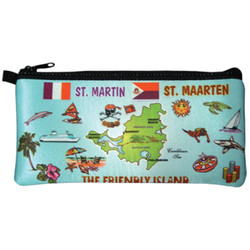 St. Maarten Map Travel Case