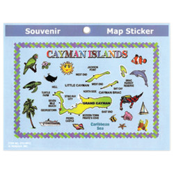 Cayman Islands Map Stickers