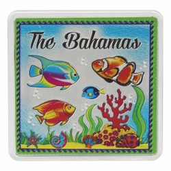 The Bahamas FISH Acrylic Foil Magnets