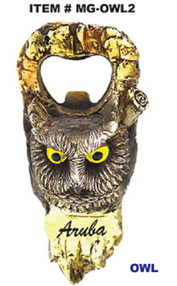 Wood Looking Animal Bottle Opener Magnets Owl