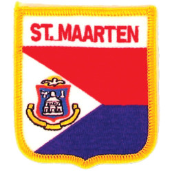 St. Maarten Iron-On Embroidered Patch