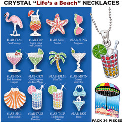 Crystal Life's a Beach Necklaces