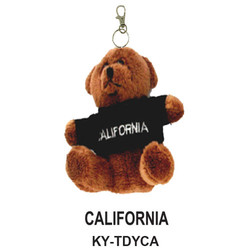 CALIFORNAI TEDDY BEAR KEYCHAIN