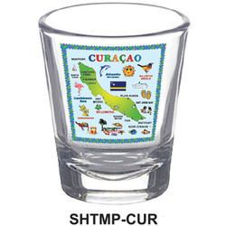 CURACAO MAP SHOT GLASSES
