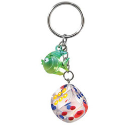 DANGLING DICE / FISH KEYCHAIN