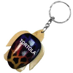 WOOD TURTLE KEYCHAIN