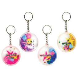 CIRCLE FLOATING KEY CHAINS