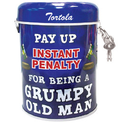 Grumpy Old Man Tin Can Bank